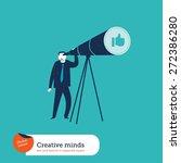 businessman with telescope... | Shutterstock .eps vector #272386280