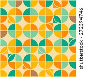 retro abstract geometric circle ... | Shutterstock .eps vector #272394746