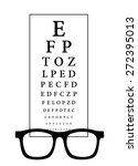 snellen eye test chart with... | Shutterstock .eps vector #272395013