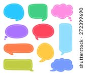 set of colorful speech bubbles... | Shutterstock .eps vector #272399690