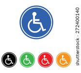 disabled handicap icon | Shutterstock .eps vector #272400140