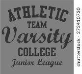 athletic varsity college t... | Shutterstock .eps vector #272410730