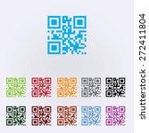 Qr Code Icon   Color . Vector...