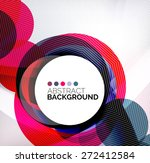 colorful circles modern... | Shutterstock .eps vector #272412584