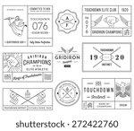 vector american football badges ...   Shutterstock .eps vector #272422760