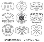 vector american football badges ... | Shutterstock .eps vector #272422763