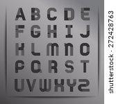 set of stylish alphabet  ... | Shutterstock .eps vector #272428763