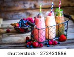 fresh smoothies | Shutterstock . vector #272431886