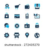 online store icons    azure... | Shutterstock .eps vector #272435270