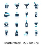 drinks icons    azure series | Shutterstock .eps vector #272435273