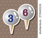 golf equipment theme elements | Shutterstock .eps vector #272443124