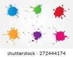 colorful paint splat.paint... | Shutterstock .eps vector #272444174