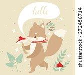 illustration of cute cartoon...   Shutterstock .eps vector #272456714