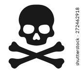 crossbones and skull death flat ...