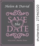 save the date card with letter... | Shutterstock .eps vector #272463320