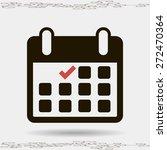 calendar flat icon   vector | Shutterstock .eps vector #272470364