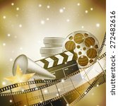 cinema background with retro... | Shutterstock .eps vector #272482616