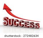success arrow | Shutterstock . vector #272482634
