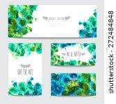 elegant watercolor cards ...   Shutterstock .eps vector #272484848