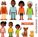 happy family of seven african... | Shutterstock .eps vector #272485574