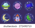 icons of space objects in flat... | Shutterstock . vector #272490713