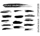 vector set of grunge brush...   Shutterstock .eps vector #272491838