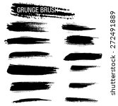 vector set of grunge brush... | Shutterstock .eps vector #272491889