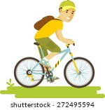 young bicyclist rider man with... | Shutterstock .eps vector #272495594