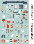 set of medical infographics... | Shutterstock .eps vector #272497100