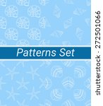 set of 4 seamless patterns.... | Shutterstock .eps vector #272501066