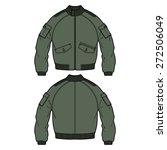 fashion bomber jacket vector...   Shutterstock .eps vector #272506049