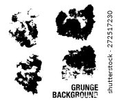 set of black ink vector stains  ... | Shutterstock .eps vector #272517230