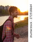 young man on a background of... | Shutterstock . vector #272518664