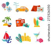 set of summer flat icon | Shutterstock .eps vector #272526350