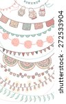 hand drawn vector garlands and... | Shutterstock .eps vector #272533904