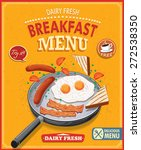 vintage breakfast menu poster... | Shutterstock .eps vector #272538350