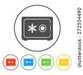 safe vector icon  vector eps 10 ... | Shutterstock .eps vector #272554490