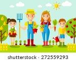set of pictures  gardener... | Shutterstock .eps vector #272559293