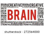 brain word on speech cloud... | Shutterstock . vector #272564000