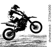 rider participates motocross... | Shutterstock .eps vector #272564300