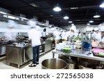 modern kitchen and busy chefs... | Shutterstock . vector #272565038