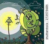 illustration of the fairy tree...   Shutterstock .eps vector #272573684