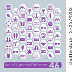set of summer flat icons | Shutterstock .eps vector #272574203
