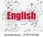 education concept  painted red... | Shutterstock . vector #272575748