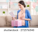 Smiling Young Pregnant Woman I...