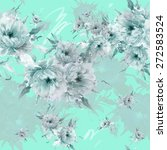 seamless pattern bright flowers ...   Shutterstock . vector #272583524