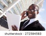 businessman have phone... | Shutterstock . vector #272584583