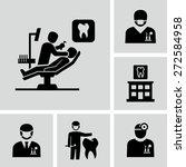 dentist icons    Shutterstock .eps vector #272584958