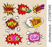 set of comics boom  vector... | Shutterstock .eps vector #272587040