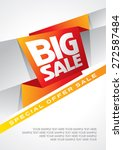 sale shopping background and... | Shutterstock .eps vector #272587484